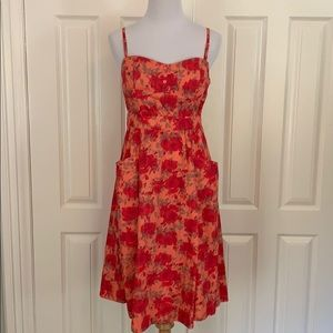 Vintage Sweetheart fit and flare rose print dress